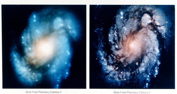 "Hubble before and after the servicing mission. ""Whoops"" doesn't even begin to sum it up."