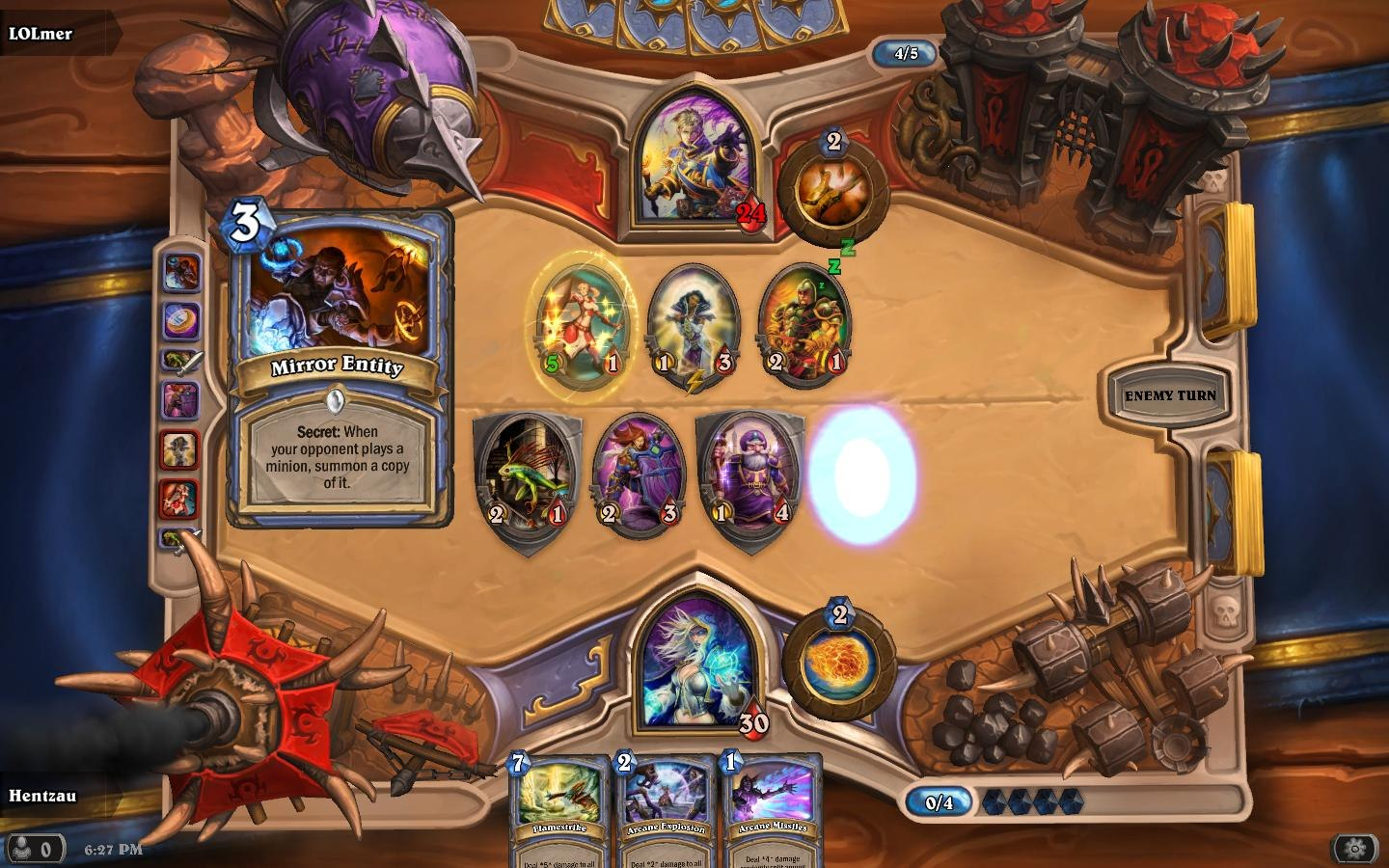 how to play against mage hearthstone